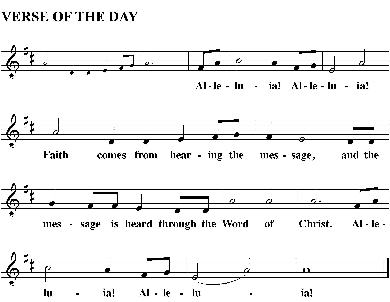 Alleluia-Faith